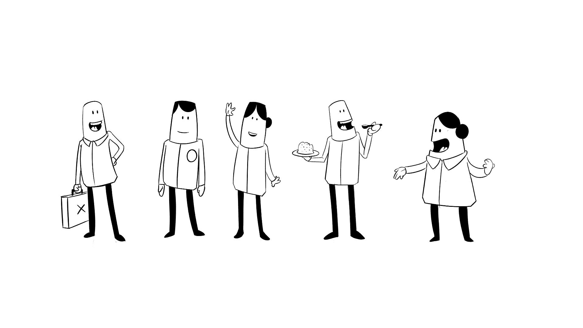 Simple Character Design Illustrator : Simple character designs elian van der heiden
